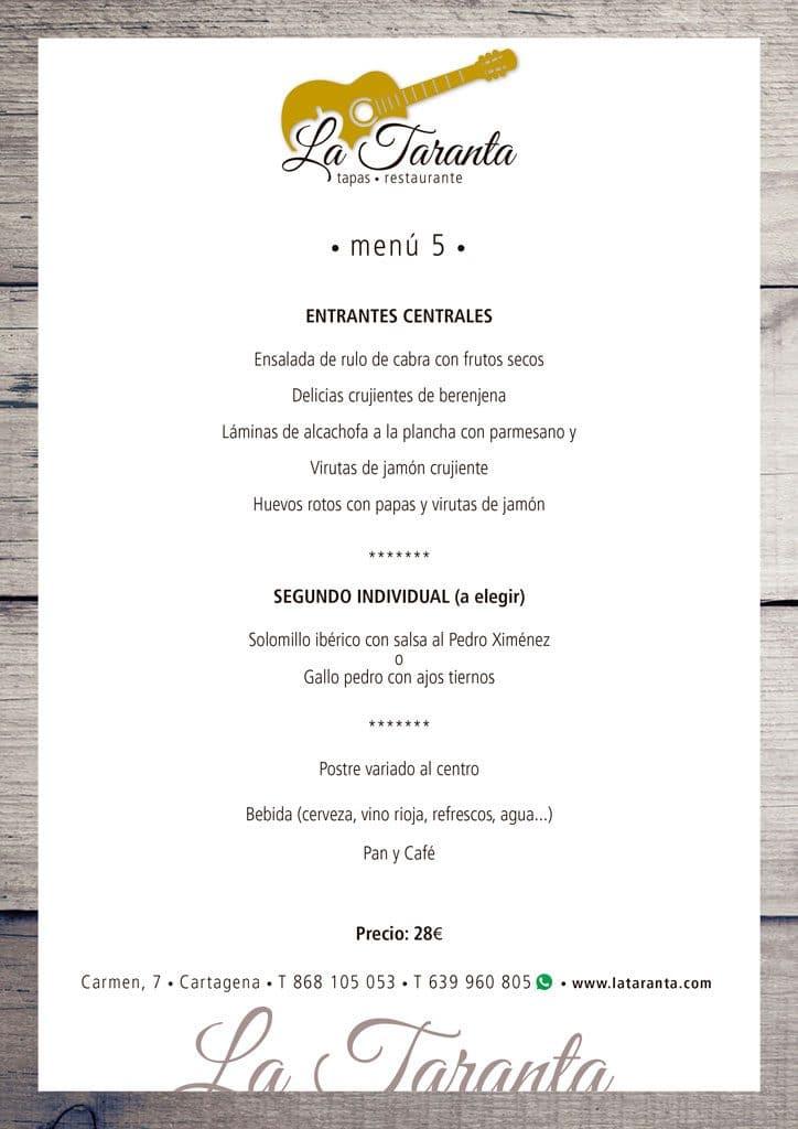 menu 5 2019